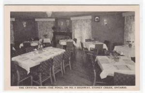 Crystal Room The Pines Restaurant Stoney Creek Ontario Canada postcard