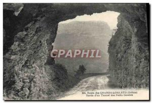 Old Postcard Great Road Goulets output d & # 39un Tunnel Small Goulets