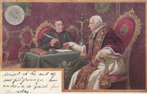 ROME , Vatican , Italy , 1890s ; Pope