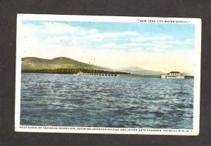 NY New York City Water Plant Ashokan Reservoir Catskill Mountains Mts Postcard