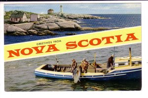 Greetings from Nova Scotia, Lighthouse, Cod Fishing