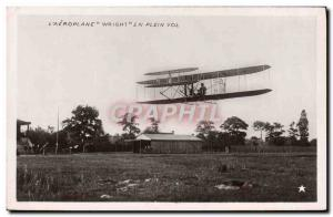 Old Postcard Jet Aviation Wright Airplane in flight