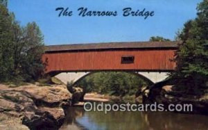 The Narrows, Charleston, IL USA Covered Bridge Unused
