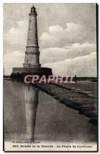 Old Postcard Entree De La Gironde Le Phare De Cordouan