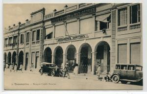 Banque de Credit Foncier Cars Tananarive Antananarivo Madagascar 1910s postcard
