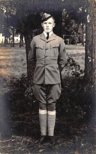 U.S. Army in Vintage Uniform Real Photo RPPC Postcard