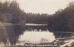 Maine Upper Gloucester Old Mill Pond 1918 Real Photo RPPC
