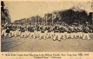 NYC West Point Cadets Band Hudson Fulton Celebration Antique Postcard K62948