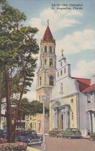 Florida St Augustine Old Cathedral Curteich