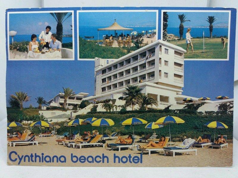 Vintage Multiview Postcard Cynthiana.Beach Hotel Paphos Cyprus