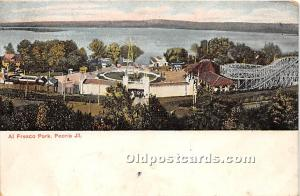 Peoria, Illinois, IL, USA Postcard Al Fresco Park 1914