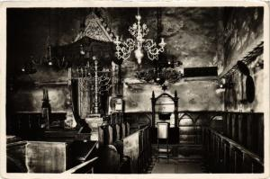 CPA AK JUDAICA SYNAGOGUE Arc of Convenant and seat of Rabbi (a1098)