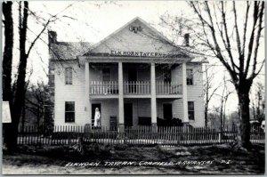 Garfield, Arkansas RPPC Real Photo Postcard ELKHORN TAVERN Building View 1940s