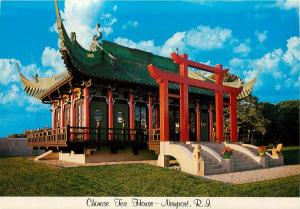 Chinese Tea House Bellevue Avenue Marble House Grounds Newport RI Postcard