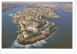 Postal 044019 : The city of Valletta aerial view - Malta