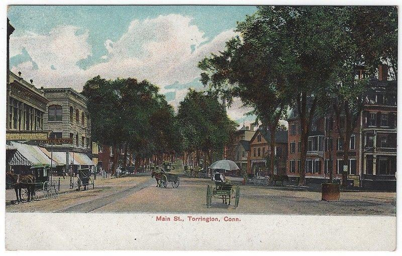Torrington, Connecticut, Early View of Main Street