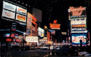 New York City Times Square At Night