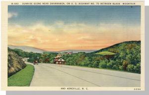Swannanoa/Asherville, No Carolina/NC Postcard,Highway,Nr Mnt
