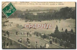 Postcard Old Saint Cloud Panorama Park took the Trocadero Gardens