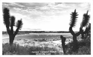 RPPC, Victorville, CA California  KEMPER CAMPBELL RANCH~Bird's Eye View Postcard