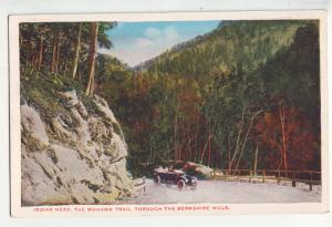 P1159 1918 postcard old car indian head mohawk trail berkshire hills mountains