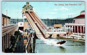 SAN FRANCISCO, California CA  The CHUTES & ROLLER COASTER   1908 Postcard
