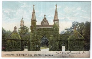 Boston, Entrance To Forest Hill Cemetery
