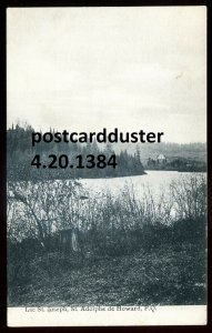 1384 - ST. ADOLPHE DE HOWARD Quebec Postcard 1900s St. Joseph Lake.