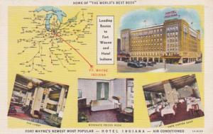 Indiana Fort Wayne Hotel Indiana Curteich