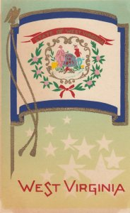 WEST VIRGINIA , State Flag , 40-50s ; Serigraph