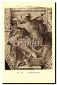 Postcard Ancient Rome Sistine Chapel Michelangelo's Libyan Sibylie