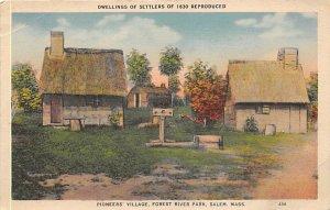 Dwellings of settlers of 1630 Salem, Massachusetts, USA Landmark Unused