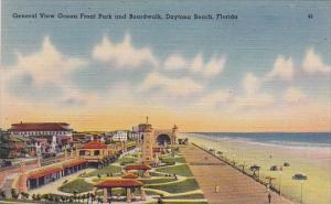 Florida Daytona Beach General View Ocean Front Park And Boardwalk