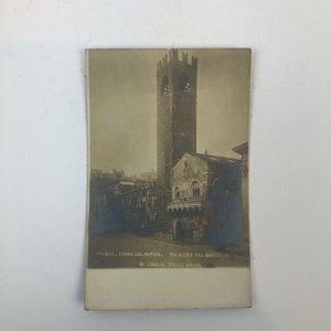 Brescia Italy/ Palazzo Torre -a main street/Sepia RPPC/ Postcard
