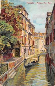 B94385 venezia palazzo van axel painting postcard italy