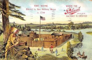 Fort Wayne Indiana in 1974 Packard Piano Advertising Vintage Postcard JA455809