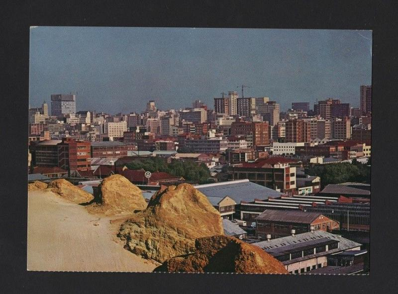 SOUTH AFRICA 1960s JOHANNESBURG POSTCARD AIRLINE ISSUE SOUTH AFRICAN AIRWAYS