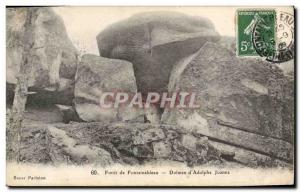 Old Postcard Dolmen Standing Stone Forest of Fontainebleau Dolmen d & # 39Ado...