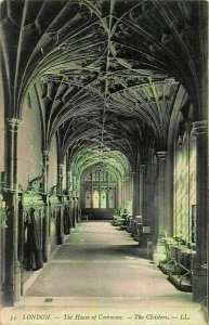 London The House of Commons The Cloisters Postcard
