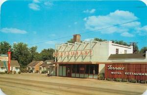 Fayetteville Tennessee~Terrace Motel & Restaurant~Neon Sign~1958 Postcard