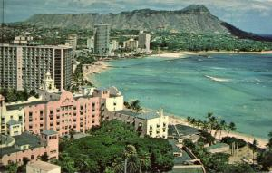 hawaii, HONOLULU, WAIKIKI, Partial View (1950s)