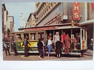 California CA San Francisco Cable Car Powell Market Streets Woolworth cable car