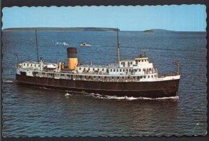 Ontario MANITOULIN ISLAND S.S. NORISLE Car Ferry Tobermory to South Bay - Chrome