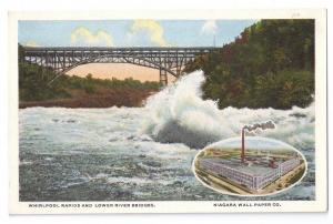 Niagara Wall Papers Co Advertising Postcard NY Whirlpool Rapids