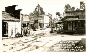 CA - Buena Park. Knott's Berry Farm, Main Street, Ghost Town - RPPC