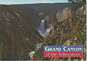 Postcard - Yellowstone National Park Grand Canyon Upper Falls Unposted
