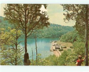Vintage Postcard Carter Cave State Resort Park Camping Campers # 971