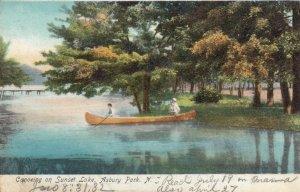 ASBURY PARK , New Jersey , 1901-07 ; Canoeing on Sunset Lake