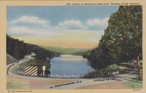 Scene On Beautiful Lake Lure Western North Carolina