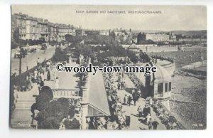 tq0495 - Somerset - Roof Gardens &  Bandstand, at Weston-super-Mare - Postcard